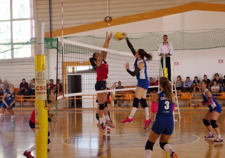 Prima înfrângere pentru echipa orădeană de volei feminin în noul sezon