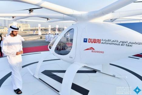 Primul taxi zburător, testat în Dubai