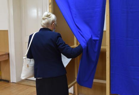 Ora 16, prezenţa la vot: 35,4% în Bihor, 24,2% în Oradea. Tinerii nu prea merg la urne