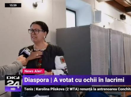'Am votat să mă-ntorc acasă': Număr record de români la urne în diaspora, peste 285.000 până sâmbătă seara
