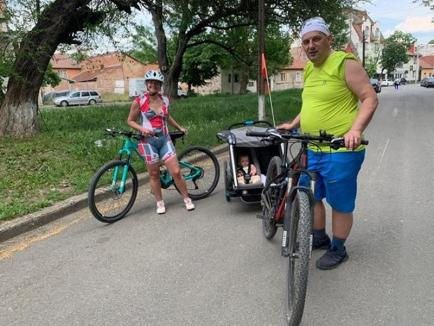 Aleargă, pedalează şi donează! Un club sportiv din Oradea i-a provocat pe bihoreni să facă mişcare, într-un concurs caritabil... de la distanţă (FOTO)