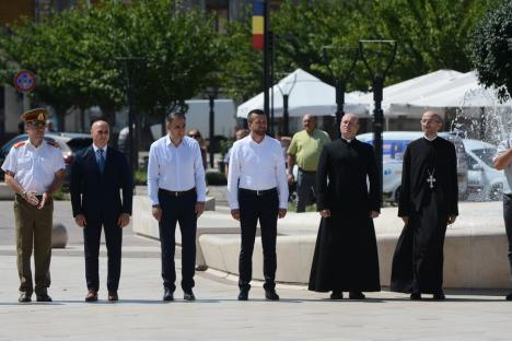 'Deşteaptă-te, române!'. Ziua Imnului, sărbătorită în centrul Oradiei (FOTO / VIDEO)