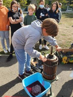 Ziua Recunoştinţei: Elevii Liceului German din Oradea au mulţumit toamnei pentru roadele bogate (FOTO)