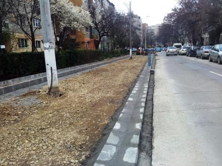 Parcări noi şi lucrări de reamenajare în zona străzii Sfântul Apostol Andrei (FOTO)