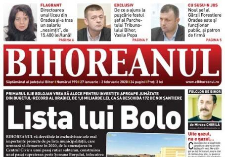Nu rataţi noul BIHOREANUL tipărit: Ce şantiere noi ne pregăteşte Bolojan anul acesta în Oradea