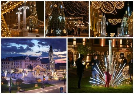 A fost pornit iluminatul de Sărbători în Oradea. Vezi cum arată! (FOTO / VIDEO)