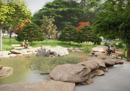 Parcul Petőfi din Oradeava fi refăcut anul viitor cu grădină japoneză, cafenea și toalete moderne