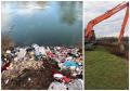 """""""Crişul Repede nu este o ladă de gunoi!"""": Tone de deşeuri, adunate de pe malurile râului din Oradea (FOTO / VIDEO)"""