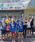 Ştefan Duca şi Anastasia Bako, performerii delegaţiei Crişul Oradea la Campionatul Național de înot pentru cadeţi