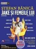 'Jake şi femeile lui'. Spectacol de teatru cu Ştefan Bănică jr şi Andreea Vasile, la Oradea