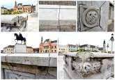 Piața crăpăturilor: Balustrada care înconjoară platoul statuii Regelui Ferdinand e plină de lipituri (FOTO)