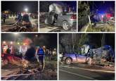 Accident grav pe DN 1, în Bihor: Două persoane rănite, trafic blocat (FOTO /  VIDEO)