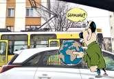 Hei, tramvai! Tramvaiele cumpărate second-hand din Berlin circulă și acum cu mesaje nemțești