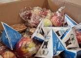 Elevii fac ore online, dar primesc pachete cu mere, lapte şi biscuiţi. Mulţi părinţi preferă să le doneze