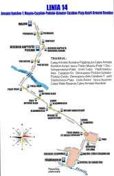 OTL: Traseul liniei 14 de autobuz începând din 10 august 2018