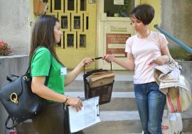 Pe locuri, fiţi gata, reciclaţi! RER Vest a început colectarea deşeurilor biodegradabile de la asociaţiile cuprinse în programul pilot (FOTO)