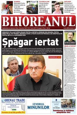 Nu ratați noul BIHOREANUL tipărit: Fostul șef al Consiliului Judeţean, Alexandru Kiss, ar putea scăpa de procesul de corupție