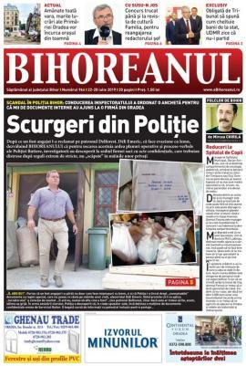 Nu rataţi noul BIHOREANUL tipărit: Anchetă în Poliţia Bihor, după o scurgere de documente interne