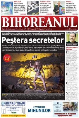Nu rataţi noul BIHOREANUL tipărit: O peşteră din Bihor este scena unei descoperiri unice în România şi rară la nivel mondial, ţinută la secret de autorităţi