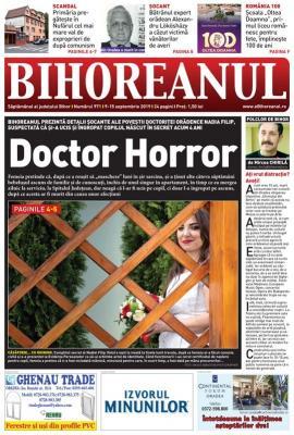 Nu rataţi noul BIHOREANUL tipărit: Detalii şocante din cazul doctoriţei suspectate că şi-a omorât bebeluşul