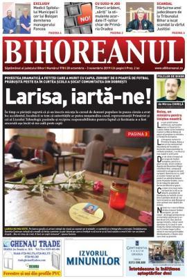 Nu ratați noul BIHOREANUL tipărit: Povestea dramatică a Larisei, fetița ucisă de poarta de fotbal prăbuşită în curtea şcolii