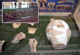 Urme din trecut: Orădenii pot vedea, vizitând o expoziţie găzduită de Universitate, obiectele care au fost găsite de arheologi în subteranul Pieţei Unirii (FOTO/VIDEO)