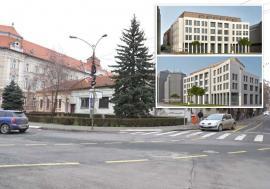 'Cazarmă' pentru avocaţi: Criticată de orădeni, clădirea care se va ridica în locul sediului PDL Bihor aminteşte de stilul fascist