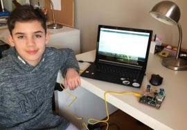 Creator de viitor: La doar 12 ani, orădeanul Andrei Covaci a impresionat IT-işti din întreaga lume cu un dispozitiv ce detectează poluarea