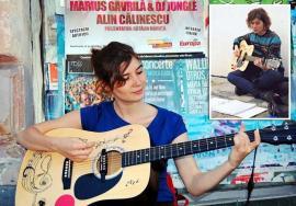 Trubadura: Ioana Butnăraşu îi bucură pe orădeni, cântând la chitară în pasajele subterane ale oraşului (VIDEO)