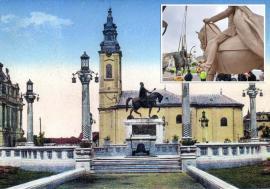 Trăiască Regele! Ferdinand Întregitorul a revenit în inima Pieţei Unirii din Oradea. Cine a fost acolo înaintea lui? (FOTO)