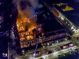 Palat ars de 'Dorei': Palatul Episcopiei Greco-Catolice din Oradea a luat foc din cauza a doi muncitori de la Electrica (FOTO)