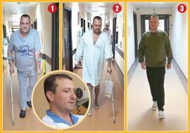 Din nou pe picioare: Bărbatul operat la Oradea de coxartroză bilaterală printr-o tehnică revoluționară s-a recuperat complet! (VIDEO)