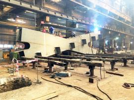 Scheletul metalic al podului Centenarului din Oradea va fi montat săptămâna viitoare (FOTO)
