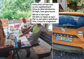 Chemarea muntelui: Șefuț din Primăria Sânmartin, prins cu mașina de serviciu la relaxare cu berici (FOTO / VIDEO)