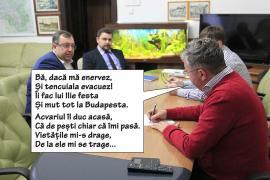 Peştii lu' Pásztor: Preşedintele Consiliului Judeţean Bihor şi-a dus acasă până şi acvariul din birou