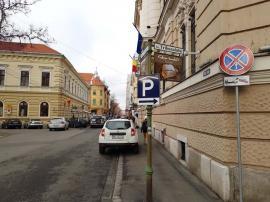 Corectitudine pe avarii: Angajatele Primăriei Oradea parchează pe interzis