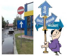 Circulaţi, nu circulaţi! Indicatoarele încurcă circulația în Piața Creangă din Oradea
