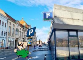 Parcare fără afişare: Afişajul de la parcarea din strada Independenţei s-a şi defectat (FOTO)