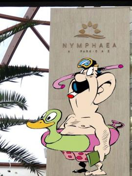 Mesaj subliminal: Limbaj licenţios în loc de firmă, la aquaparkul din Oradea