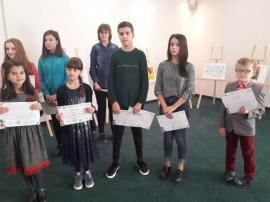 Făuritorii Marii Uniri - Portrete și fapte nemuritoare: zeci de elevi bihoreni au fost premiați pentru picturile lor (FOTO)