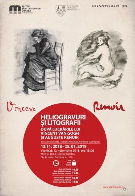 O nouă expoziţie de calibru la Muzeul Ţării Crişurilor: heliogravuri şi litografii de van Gogh şi Renoir