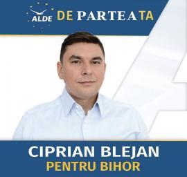 Ciprian Blejan, candidat ALDE la preşedenţia CJ Bihor: Dezvoltare înseamnă locuri de muncă mai bine plătite. Înseamnă tineri care au motive să se întoarcă acasă