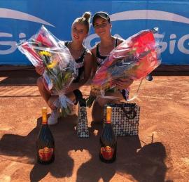 Bravo, Irina Bara! Tenismena din Ştei a câştigat turneul de la Biarritz la dublu
