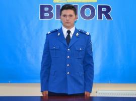 Fiul prim-adjunctului Jandarmeriei Bihor, şef de promoţie al Şcolii Militare de Subofiţeri Jandarmi
