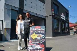 Nadia Carwash & Coffee:Fotbalistul Ioan Hora a deschis cea mai nouă şi modernă spălătorie auto din Oradea (FOTO)