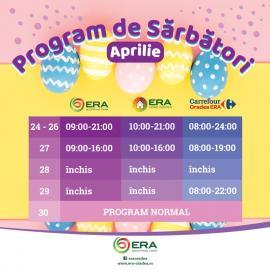 ERA Park Oradea te pregăteşte de sărbători! Program special de Paşte