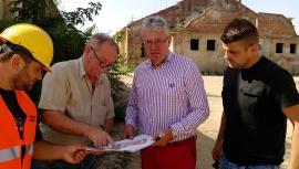 Acţiune de imagine: Pásztor Sándor în vizită pe şantierul campusului pentru învăţământ special (FOTO)