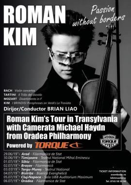 Eveniment muzical: Concert Roman Kimla Filarmonica de Stat din Oradea