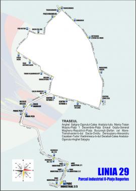 OTL: Se modifică traseul liniei 29 de autobuz