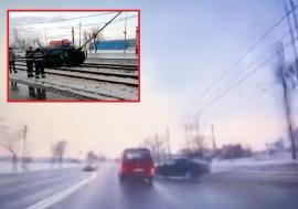 VIDEO șocant! Accidentul de pe Borşului a fost surprins de o cameră de bord. Ce manevre a făcut șoferița de BMW